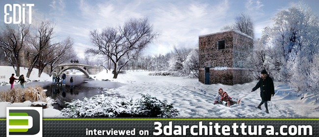 Edit interviewed for www.3darchitettura.com