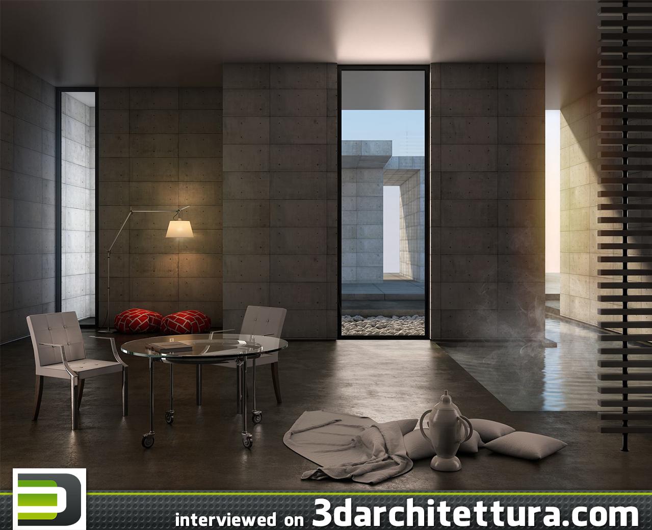 Alfonso Cucinelli interviewd for 3d Architettura: render, 3d, design, cg, architecture