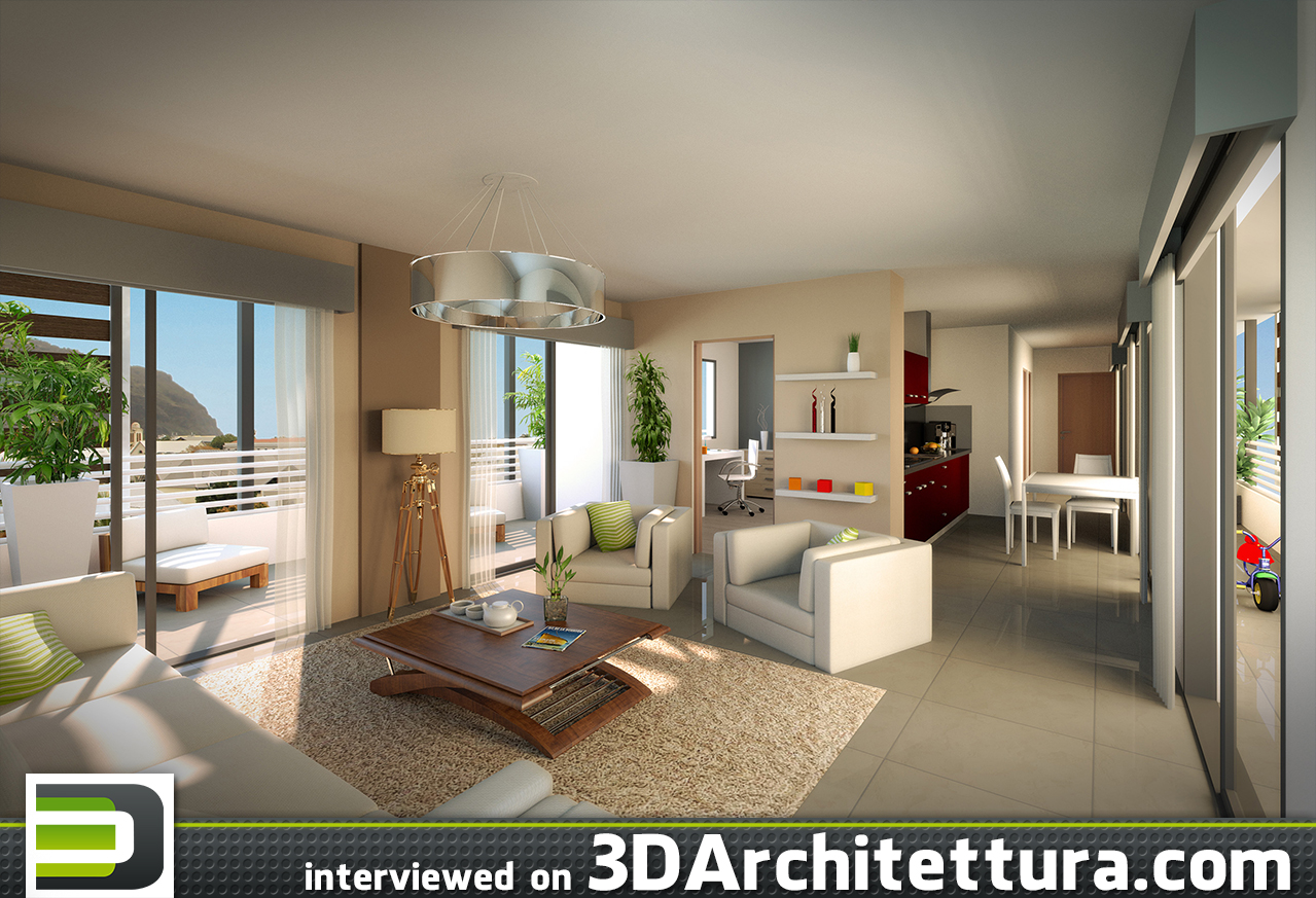 Olivier Dheilly, archiviz artist from La Reunion, tells 3D Architettura about his aproach to rendering and photorealistic 3d visualizations