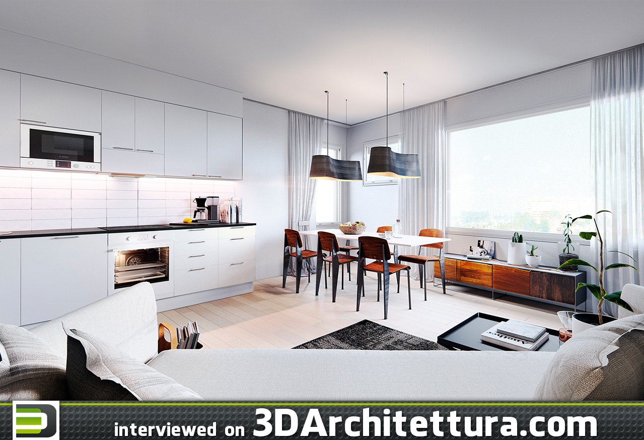 3D Architettura interview: Ville Kiuru, 3d artist, Finland, rendering, visualization, ArchViz