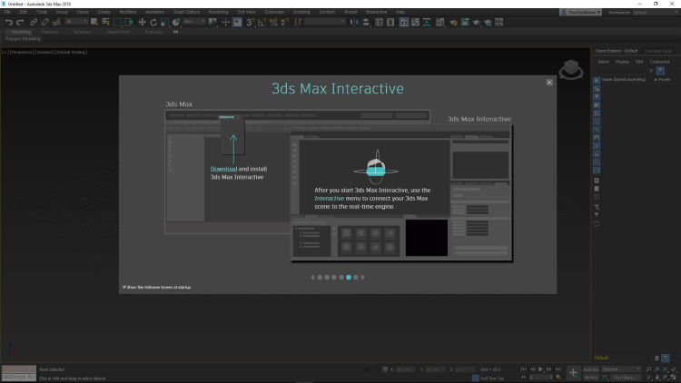3ds max interactive