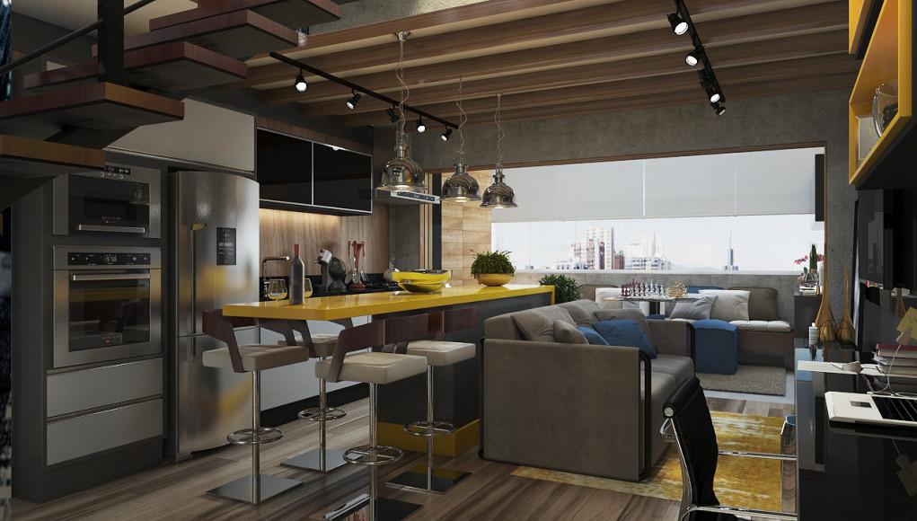 Luciano Santo, architect, rendering
