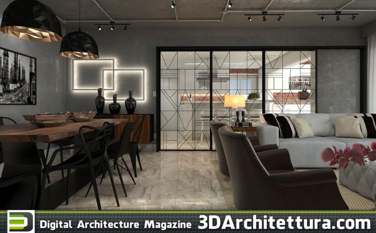 Luciano Santo: Monochromatic apartment