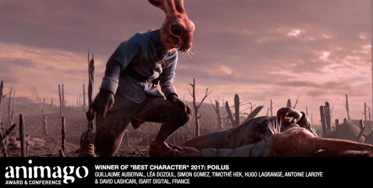 "Best character  ""Poilus"" Guillaume Auberval, Léa Dozoul, Simon Gomez, Timothé Hek, Hugo Lagrange, Antoine Laroye & David Lashcari, Isart Digital, France"