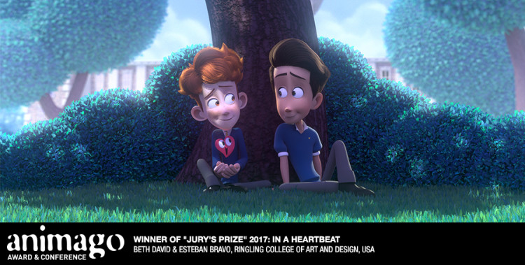 """Jury's Prize """"In a Heartbeat"""" Beth David & Esteban Bravo, Ringling College of Art and Design, United States"""