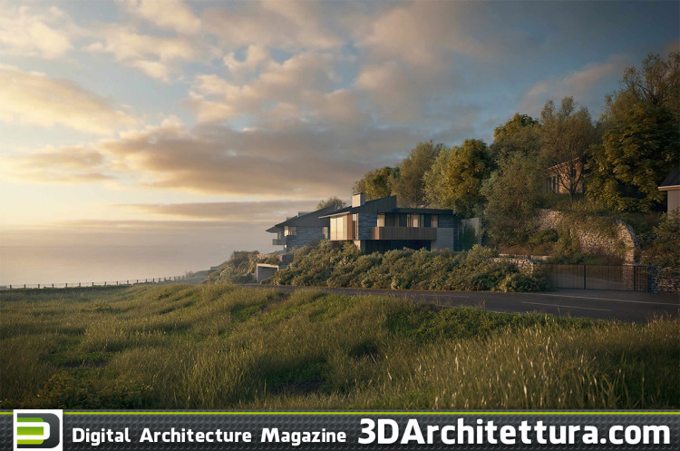 Commercial job: a group of singular houses very close to the sea coast, located in Wales. We tried to replicate the environment as close as possible to the reality of the actual place.  - 3DS Max, Corona Renderer and Photoshop