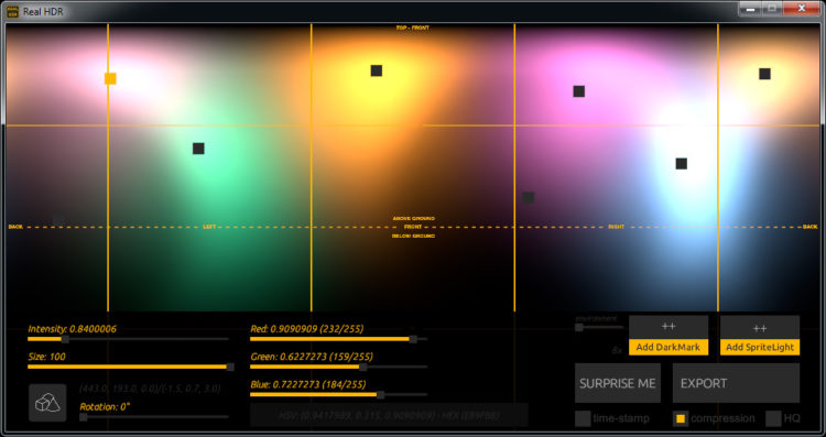 Real HDR user interface
